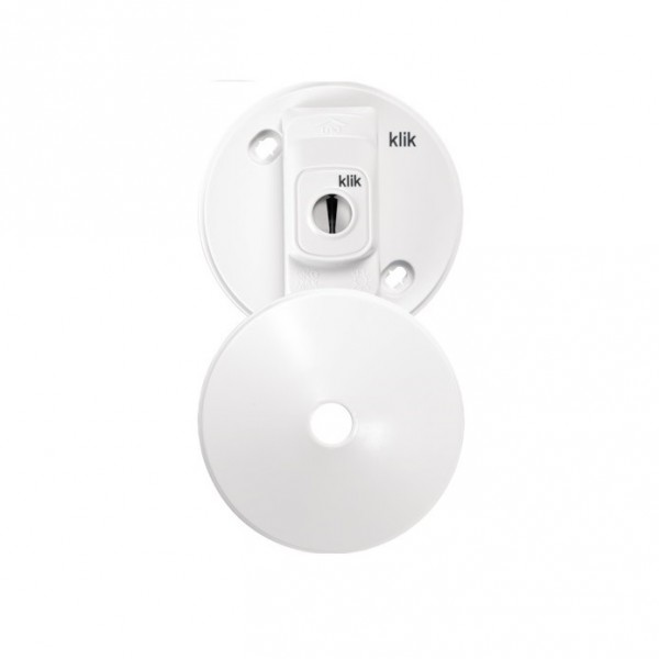 Hager Klik PCR2000 3 Pin Plug-in Ceiling Rose White