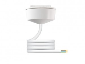 Hager Klik PCR2000/2.0 Pre-wired Plug-in Ceiling Rose c/w 3 Core 0.75mm 2m PVC Lead