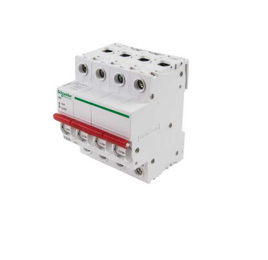 "Schneider Electric SEA91254 125A Switch disconnector 230/240V 4 Pole for ""B"" Type Distribution Boards."