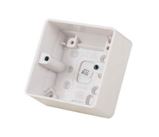 MK Electric Logic Plus K2031WHI Moulded 1 Gang Surface Mounting Box 40mm White