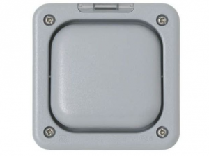MK Electric Masterseal Plus K56406GRY 10A Wall Switch Rocker Flush, 1 Way, 1 Gang,  IP56
