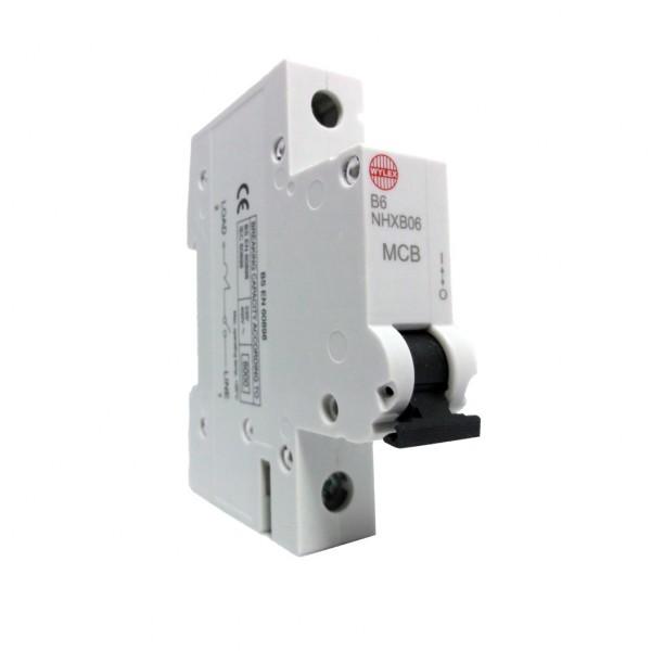 "Wylex NHXB06 6A 6kA Single Pole ""B"" Type NH Range MCB"