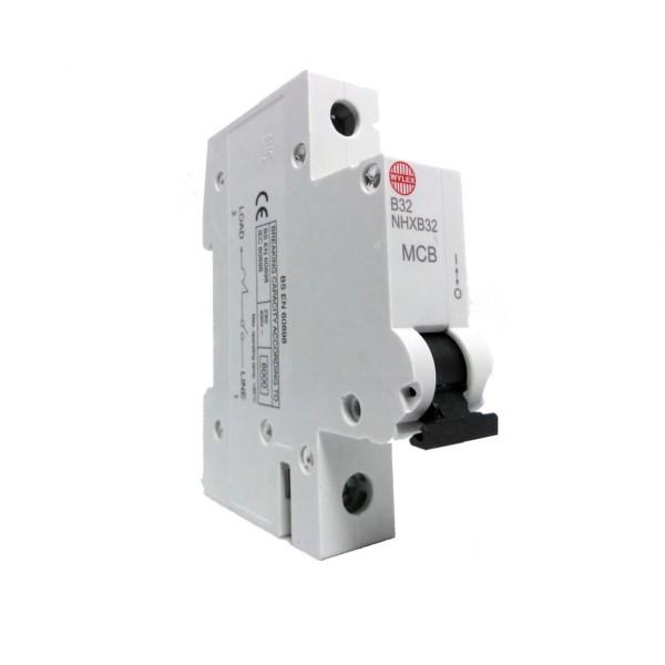 "Wylex NHXB32 32A 6kA Single Pole ""B"" Type NH Range MCB"