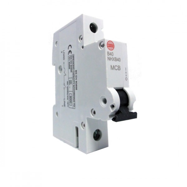 "Wylex NHXB40 40A 6kA Single Pole ""B"" Type NH Range MCB"