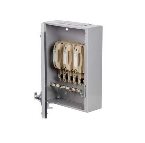 Eaton MEM 100KXTNC2F Exel 2 Grey Three Phase TPN Switch-Disconnector-Fuse 125A 415V
