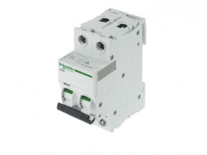 """Schneider Electric A9F53201 1A Double Pole """"B"""" Type iC60H MCB (C60HB201)"""