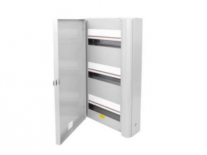 Eaton EBMXDC45 Memshield 3 – 45 Modular Enclosure, 3 x 15 Module Din Rail – Unglazed Door