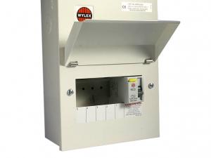 Wylex NMRS506 5 Way Amendment 3 Metal Consumer Unit w/ 100A 30mA RCD