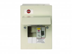 Wylex NMRS206/40 2 Way Amendment 3 Metal Consumer Unit w/ 40A 30mA RCD Incomer