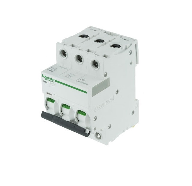 """Schneider Electric Acti9 A9F54350 50A Triple Pole """"C"""" Type iC60H MCB ..."""
