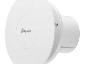 """Xpelair C4HTR Simply Silent Contour 4"""" 100mm Round Bathroom Fan W/ Humidistat & Timer - 92967AW"""