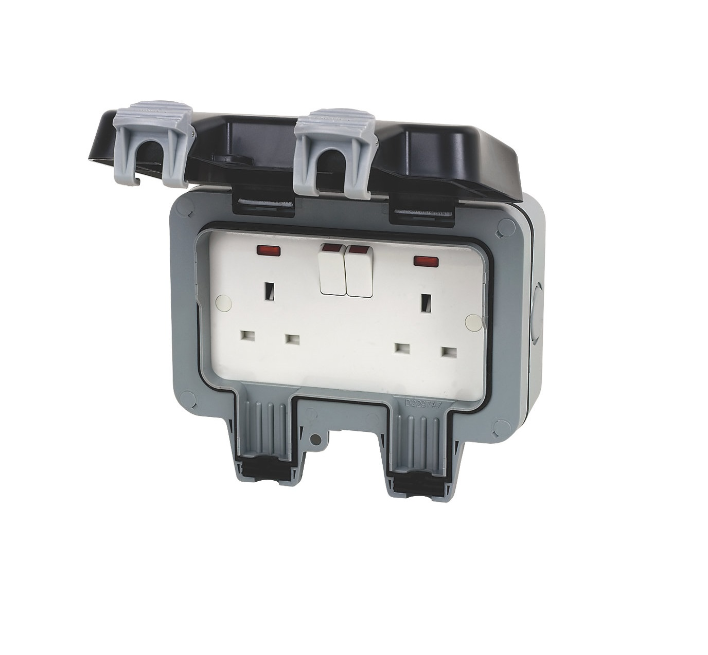 Bg Wp22 Outdoor Weatherproof Double Switched Socket Grey 13 Amp Ip66 Wiring Accessories 2