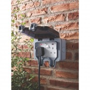 BG WP22 Outdoor Weatherproof Double Switched Socket Grey 13 Amp IP66 4