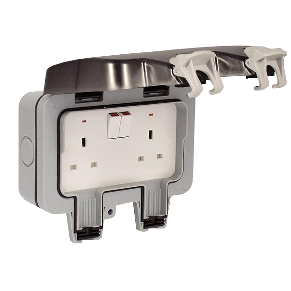 Weatherproof 13A Double Socket