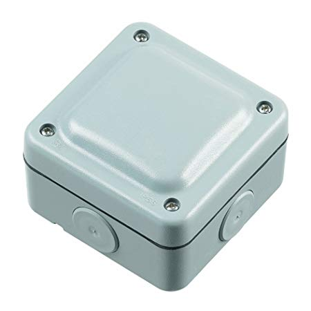 MK Electric Masterseal Plus K56506GRY Junction Box w/ Four 4-way Terminals IP66