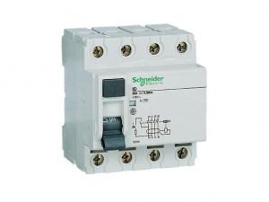 Schneider Electric Multi 9 RMG250304 4P 25A RCD Trip Sensitivity 30mA  DIN Rail Mount