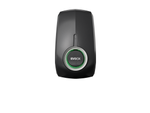 EVBox Elvi Satellite, Wireless Load Balancing, Socketed with kWh Meter, Misty Black E3321-A6501-10