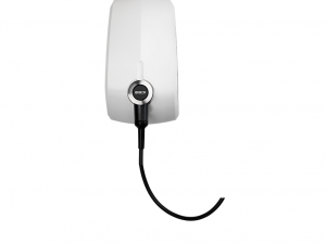 EVBox Elvi Tethered 6m Type 2 Cable, 1-Phase, Wi-Fi with kWh Meter Polar White E1320-A35062-11.2