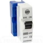 Wylex B16 16A Blue Plug In MCB 240v